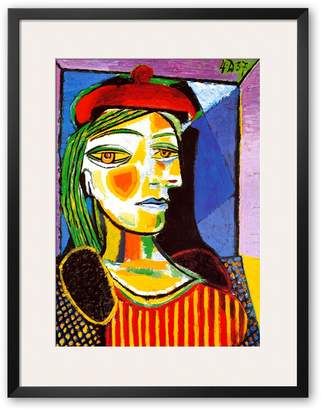 """Art.com Girl with Red Beret"""" Framed Art Print by Pablo Picasso"""