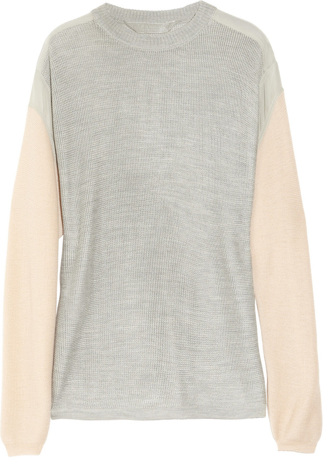 Reed Krakoff Open-knit cashmere and silk top