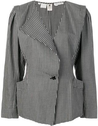 Ungaro Pre-Owned single breasted check blazer
