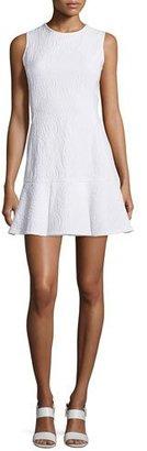 Shoshanna Sleeveless Crewneck Drop-Waist Flounce Dress $395 thestylecure.com