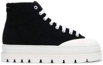 MM6 MAISON MARGIELA platform sole mid sneakers