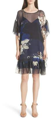 See by Chloe Floral Print Ruffle Trim Dress