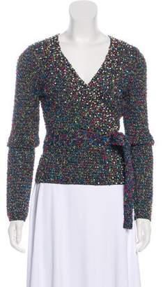 Diane von Furstenberg Ballerina Wrap Tweed Embellished Cardigan