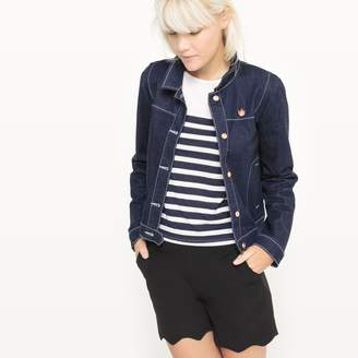 MADEMOISELLE R Denim Jacket with Cat Brooch