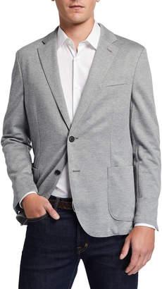 Neiman Marcus Men's Heathered Knit Sport Jacket