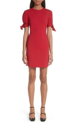RED Valentino Tie Sleeve Sheath Dress