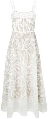 Elie Saab floral pattern flared dress