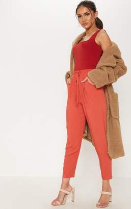 PrettyLittleThing Brick Casual Trouser