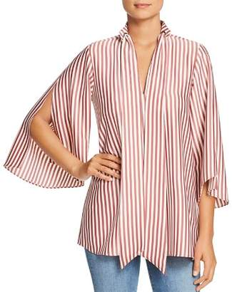 Kenneth Cole Striped Scarf Tunic Top