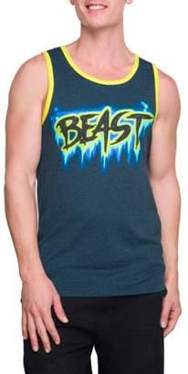 Pop Culture Big Men's Beast Graphic Ringer Tank Top, 2XL