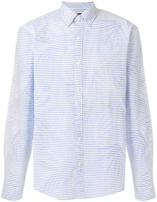 MICHAEL Michael Kors mixed-print button-down shirt