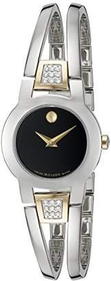 Movado Women's Swiss Quartz Stainless Casual Watch (Model: 0606894)