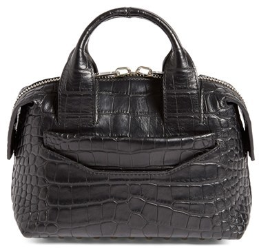 Alexander Wang 'Rogue' Croc Embossed Leather Satchel