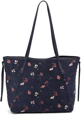 Lucky Brand Nela Suede Tote