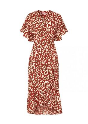 Freya Kitri Animal Print Wrap Dress