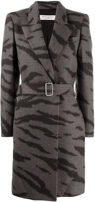 Philosophy di Lorenzo Serafini tiger-print belted coat