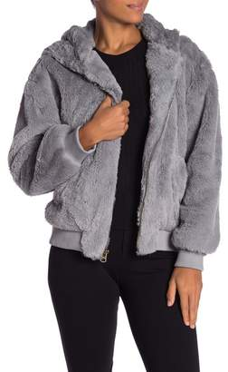 Lucky Brand Faux Fur Hooded Jacket