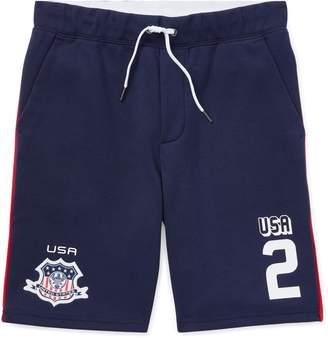 Ralph Lauren USA Double-Knit Pull-On Short
