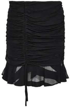 IRO Ruched Burnout Chiffon Mini Skirt