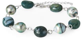 N. Tara Pearls Tahitian Cultured Pearl & Black Onyx Beaded Bracelet