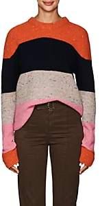 A.L.C. Women's Colorblocked Wool-Blend Crewneck Sweater - Orange