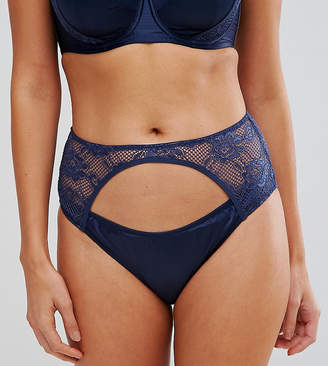 Wolfwhistle Wolf & Whistle Navy High Waist Brief