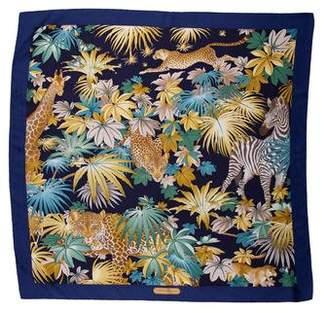 Salvatore Ferragamo Silk Printed Scarf