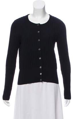 Tory Burch Rib Knit Button-Up Cardigan