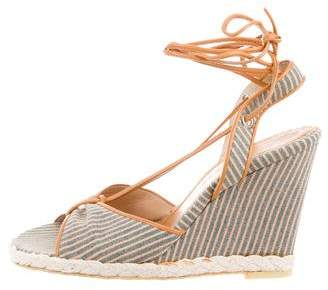 Marc Jacobs Striped Wedge Sandals