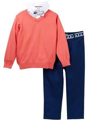 Beetle & Thread Dress Shirt, Bow Tie, V-Neck Sweater & Twill Pant Set (Baby Boys)