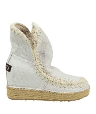 Mou Eskimo Sneakers In White Leather