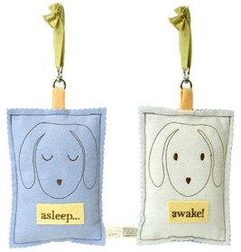 Asleep/Awake Doorknob Sign - Puppy