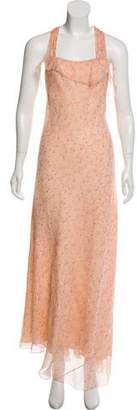 Ralph Lauren Purple Label Printed Silk Dress