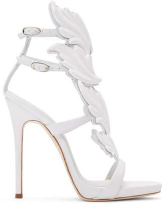 Giuseppe Zanotti White Coline Wing Sandals