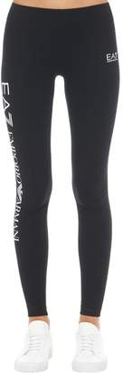 Emporio Armani Ea7 Train Logo Series Cotton Leggings