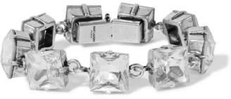 Saint Laurent Smoking Silver-tone And Crystal Bracelet