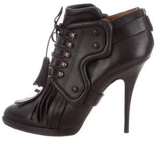 Givenchy Leather Kiltie Ankle Booties