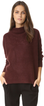 Vince Boiled Cashmere Funnel Neck Sweater $385 thestylecure.com