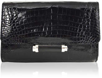 26a386f074 Sloane Mini Metallic Crocodile Evening Clutch Bag