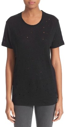 Women's Iro 'Clay' Punctured Linen Tee $145 thestylecure.com