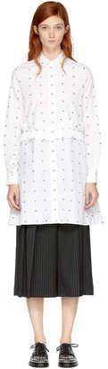 McQ White Swallow Shirt Dress