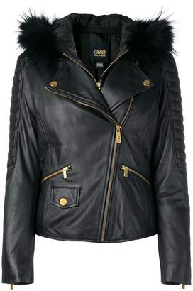 Class Roberto Cavalli leather jacket