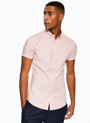 TopmanTopman Light Pink Stretch Skinny Oxford Shirt