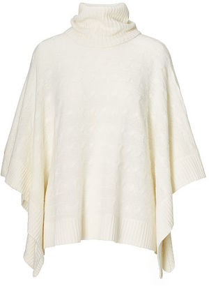 Polo Ralph Lauren Cable Wool-Cashmere Poncho $198 thestylecure.com