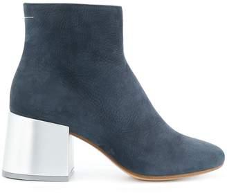 MM6 MAISON MARGIELA metallic heel boot