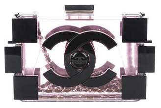 Chanel Lucite Lego Clutch