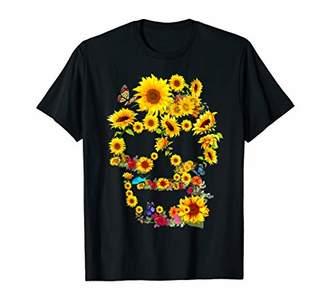 Sunflower Skull Tree skull Floral Skull Woman T-Shirt