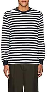 Pop Trading Company POP TRADING COMPANY MEN'S LOGO STRIPED COTTON T-SHIRT-NAVY SIZE S