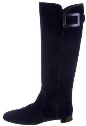 3a8bb13f48475 Pre-Owned at TheRealReal · Roger Vivier Velvet Knee-High Boots