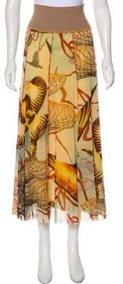 Jean Paul Gaultier Printed Mesh Skirt